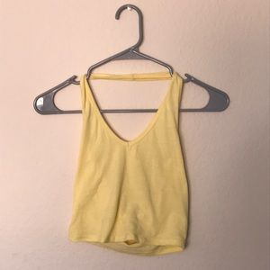 Yellow Halter Top from Tillys